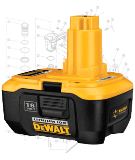 DeWalt Battery Repair Parts