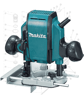 Makita Router Repair Parts